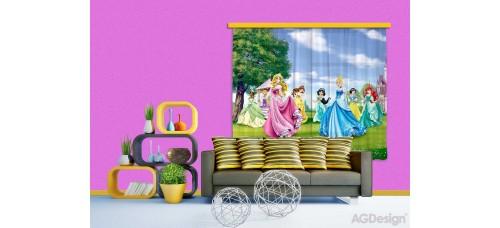 Hercegnők a szabadban gyerek függöny XXL