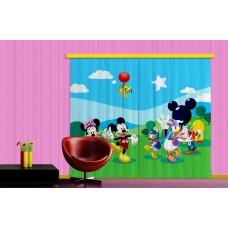Minnie, Mickey, Daisy kacsa függöny XXL