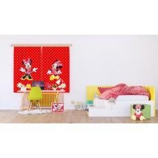 Minnie egeres, piros gyerekfüggöny
